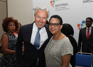 Wells Fargo & Co Chair Executive Officer John Stumpf and Joset Wright-Lacy, NMSDC President