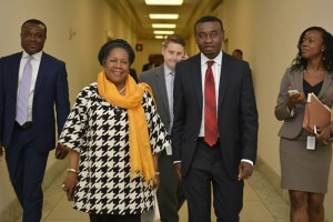 Mbonu with Congresswoman Sheila Jackson-Lee, at US Congress
