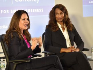 TV Producer Nely Galán and Super Model Beverly Johnson promote minority small businesses.  Photo:  Ashleigh A.M. Bing