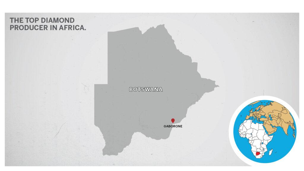 Map of Gaborone Botswana