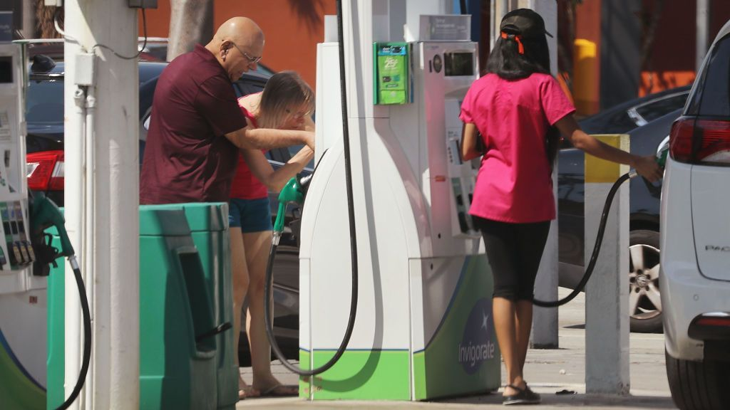 AAA reported a national average retail price of $3.16 for a gallon of regular unleaded on Tuesday. That's up from the $3.07 per gallon reported a month ago. (Photo by Joe Raedle/Getty Images)