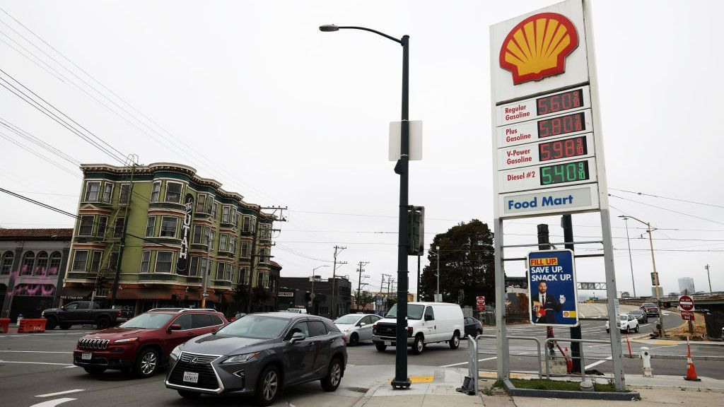 AAA lists a nationwide average retail price of $3.15 for a gallon of regular unleaded gasoline, with California's average at $4.30 per gallon. The price has remained relatively unchanged over the last month despite wide swings in the price of crude oil. (Photo by Justin Sullivan/Getty Images)