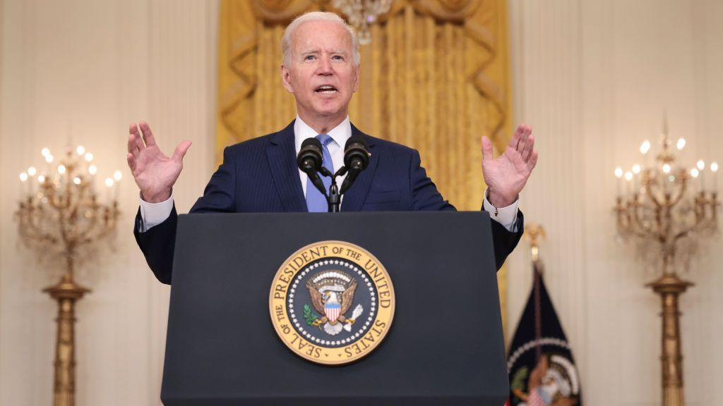 U.S. President Joseph R. Biden Jr. speaks about the state of the economy at the White House on Sept. 16, 2021. (Win McNamee/Getty Images)